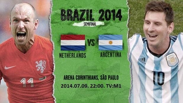 Hollandia - Argentína vb elődöntő